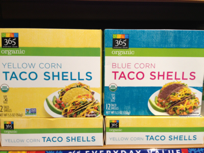 365 Yellow or Blue Corn Taco Shells