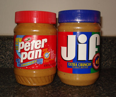 Peter Pan or Jif Peanut Butter