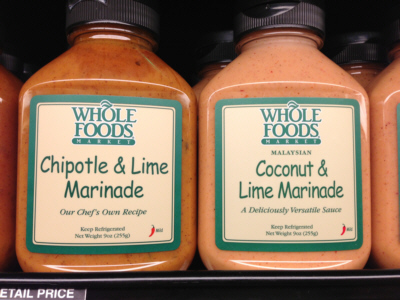 Whole Foods Chipotle or Coconut Lime Marinade