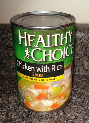 Healthy Choice Soup - Chicken with Rice