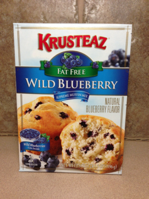 Krusteaz Fat Free Wild Blueberry Muffins Mix